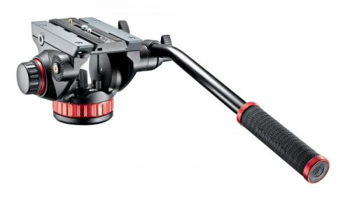 Cabezal Manfrotto de video fluido con base plana - MVH502AH